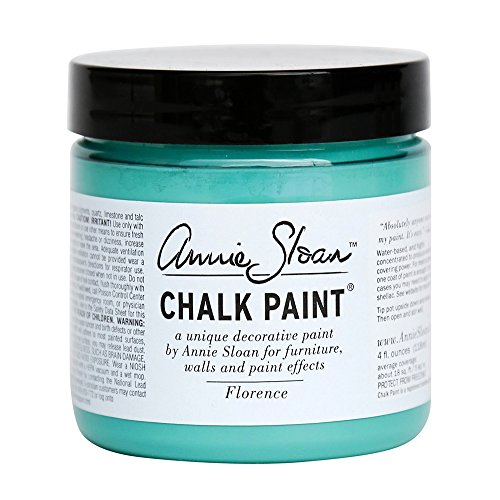 Florence Bedroom (CHALK PAINT (R) by Annie Sloan - Florence (Project Pot - 4oz) – Decorative paint for furniture, cabinets, floors, home decor and accessories – Water-based – Non-toxic – Matte finish)