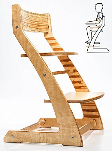 HeartWood Adjustable Wooden High Chair (Natural)