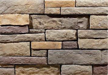 Cultured Manufactured Stone Veneer Wall Siding  American Ledge  Wolf Creek