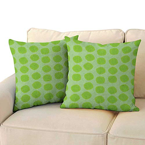Sonora Almond - RenteriaDecor Lime Green,Bedding Pillowcases Simplistic Formless Geometric Shapes in Different Shades Kids Nursery Theme 24