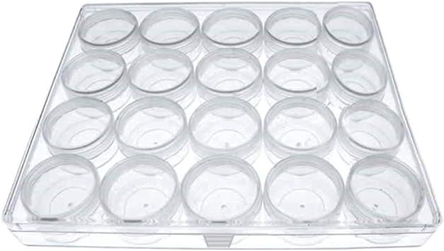 12 Kleinteildosen für Uhrenteile in Klarsichtbox