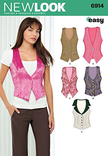 New Look Sewing Pattern 6914 Misses Tops, Size A (4-6-8-10-12-14-16)