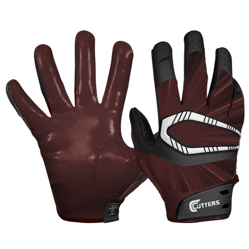 Cutters Gloves REV Pro Receiver Glove (Pair), Maroon, Medium by Cutters