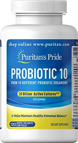 Puritans Pride Rapid Release Probiotic, 120 Count
