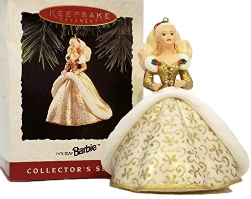 (Barbie in Gold Christmas Gown Hallmark Holiday Collector's Series Keepsake Ornament)