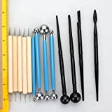 FASOTY Set of 13 Ball Stylus Dotting Tools for Clay Sculpture Pottery Carving Modeling Rock Painting Kit