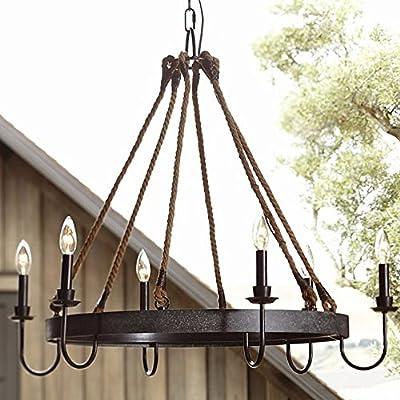 Ladiqi Industrial Chandelier Ceiling Light Rustic Lighting Vintage Chandeliers Lighting