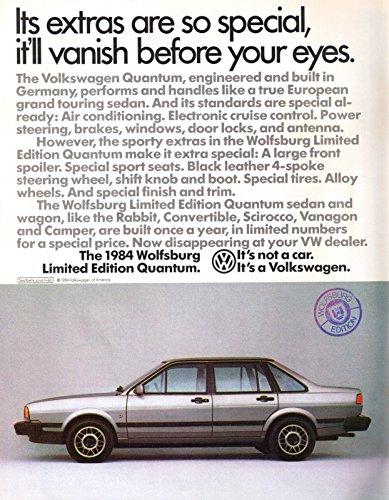 1984 VW Volkswagen Quantum Wolfsburg Limited Edition Vintage