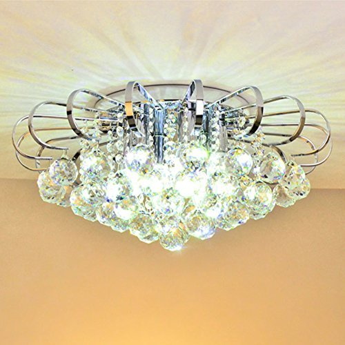 ChuanHan Chandelier Ceiling Light Contemporary Modern Simple Led Crystal Chandelier Living Room Bedroom Restaurant Light K9 Crystal Chandelier Ceiling Light, Warm ()