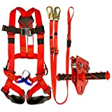 Fusion Climb Kids Backyard Zip Line Kit Harness Lanyard Trolley Bundle FK-K-HLT-06