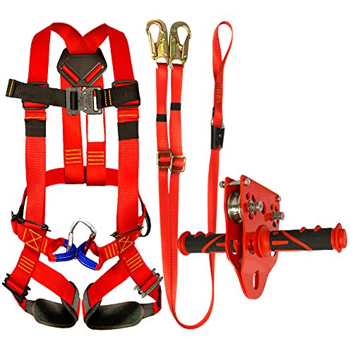 Fusion Climb Kids Backyard Zip Line Kit Harness Lanyard Trolley Bundle FK-K-HLT-06 by Fusion Climb