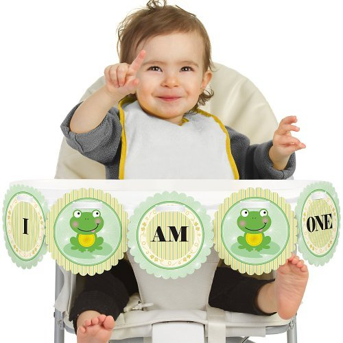 Big Dot of Happiness Froggy Frog 1st Birthday - I Am One - First Birthday High Chair -