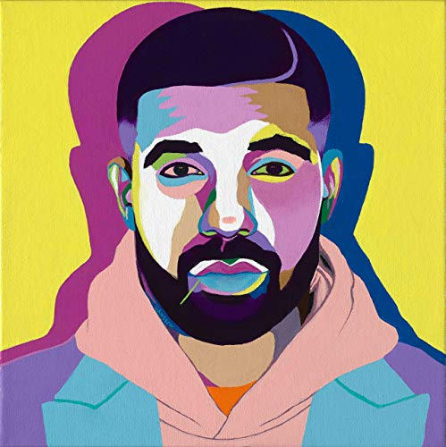 Vakseen Art - All Me - Drake portrait - Limited Edition Giclee Print & Framed Pop Art for Wall Decor