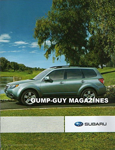 2 Page Magazine Print Ad From 2008 For SUBARU FORESTER ROAD-GRIPPING SYMMETRICAL ALL-WHEEL DRIVE
