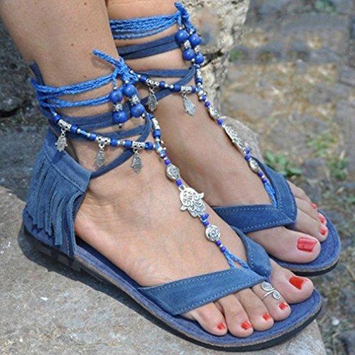 Flop Zapatos Romanoas Verano Moda Casuales Elegant Zapatos Borlas Flip De Mujeres up Zapatos Sandalias Playa Casual Verano De Lace Jianhui Zapatos Sandalias pqOtn