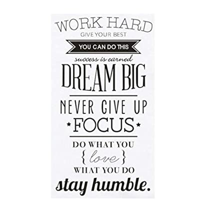 Amazon Com Balakie Inspirational Quotes Wall Stickers Home Decor