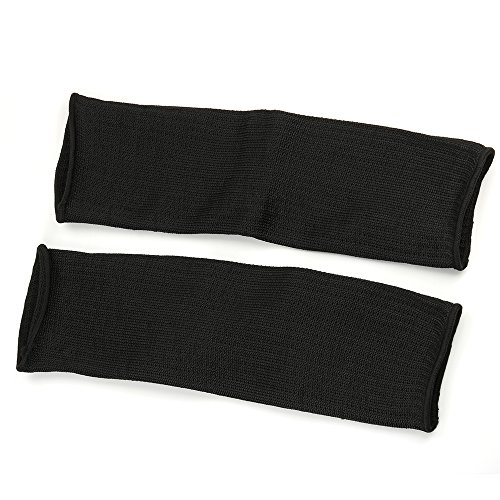 Breynet 1 Pair Black Arm Protection Kevlar Sleeve Anti-Cut Resitant Burn Resistant Sleeves Anti Abrasion Safety Arm Guard for Garden Kitchen Farm Work (Protective Sleeve Forearm)
