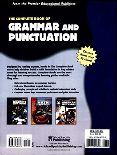 Workbook contraction worksheets for grade 3 : Amazon.com: The Complete Book of Grammar and Punctuation ...