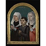 Perfect effect Canvas ,the Reproductions Art Decorative Prints on Canvas of oil painting 'Master Of The Legend Of St. ursula,Diptych with the Virgin and Child and Three Donors R,1486', 18x24 inch / 46x61 cm is best for gift for girl friend and boy friend and Home decor and Gifts
