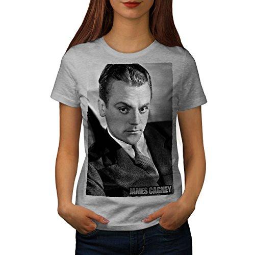 James Team Color (Wellcoda Star James Cagney Women Grey S T-Shirt)