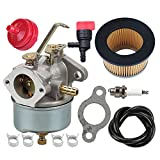5 hp tecumseh carburetor - 632230 632272 Carburetor with 30727 Air Filter for Tecumseh 5 HP 6 HP 631828 631067 631067A H30 H50 H60 HH60 HH70 Engines 4 Cycle Engine Troy Bilt Tiller Toro Snowblower Sears Tillers 47279 Carb
