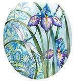 Toilet Tattoos TT-1014-R Iris Beauty Decorative Applique for...