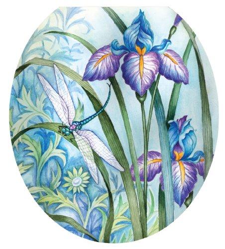 Toilet Tattoos TT-1014-R Iris Beauty Decorative Applique for Toilet Lid, Round by Toilet Tattoos
