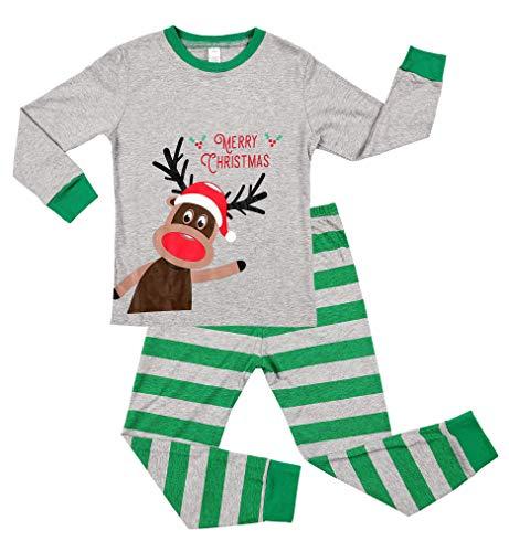 beautyin Children Pajama Set Christmas pjs Kids Long Sleeve Xmas Sleepwear -