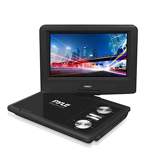 "PDV71BK Portable DVD Player - 7"" Display - 800 x 480 - Black"