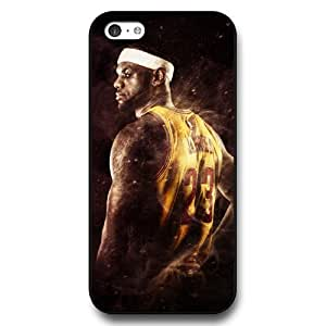 UniqueBox - Customized Personalized Black Hard Plastic iPhone 5c Case, NBA Superstar Cleveland Cavaliers Lebron James iPhone 5C case, Only Fit iPhone 5C Case