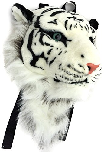 Girls Sassy Cat Animal Costumes (VIAHART Authentic Tigerdome White Siberian Tiger Animal Head Backpack and Wall Mount)