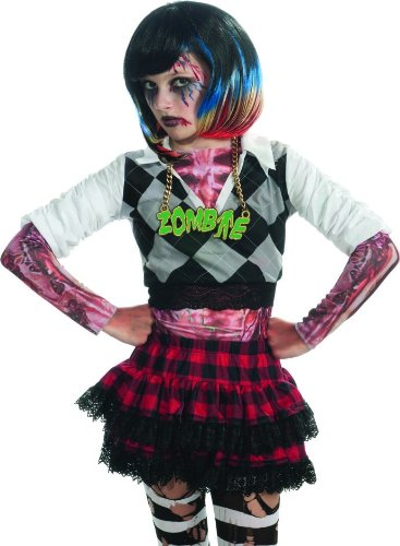 Rubie's Costume Zombie Colorful Streaks Costume Wig, Multi, One (Zombie Ruby)