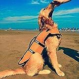 Dog Saver Life Jacket Reflective Pet Preserver Multi-Size Aquatic Safety Vest Suitable for Summer Beach(Orange,Large)