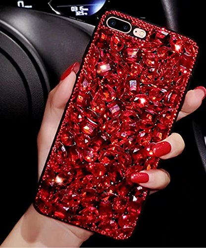 Galaxy Note 4 Case,Galaxy Note 4 Diamond Gemstone Case,Luxury Sparkle Glitter Crystal Rhinestone Bling Glitter Diamond Gemstone Phone Case For Samsung Galaxy Note 4 (Case Red 4 Note Bling)
