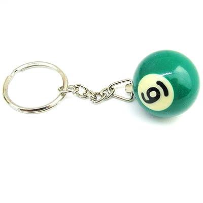 (NR.6) Support de boule de billard avec le numéro un Pool Choice Billard idée cadeau unisexe des hommes,