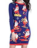 Product review for V28 Christmas Sweater Dress, Women Ugly Happy Santa Xmas Knit Jumper Dresses