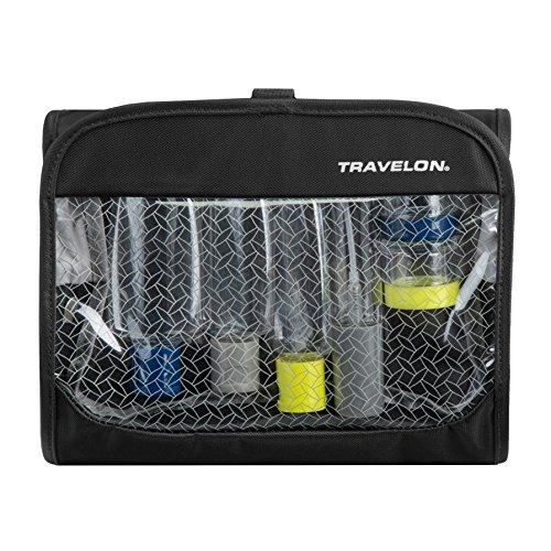 Travelon Womens Trifold Wet/Dry Quart Bag with Bottles, Black