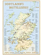 Whisky Distilleries Scotland - Tasting Map 24x34cm: The Scottish Whisky Landscape in Overview: The Whiskylandscape in Overview - Maßstab 1:1.750.000