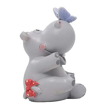 Fenteer Estatua De Hipopótamo Decoración para Tartas De ...