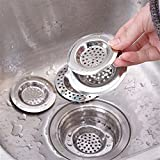 Gotian Kitchen Water Sink Strainer Cover Floor Drain Plug Bath Catcher Drain Plu, Easily to Move or Clean, Widely Use in The Kitchen, Bathroom and Laundry (A)