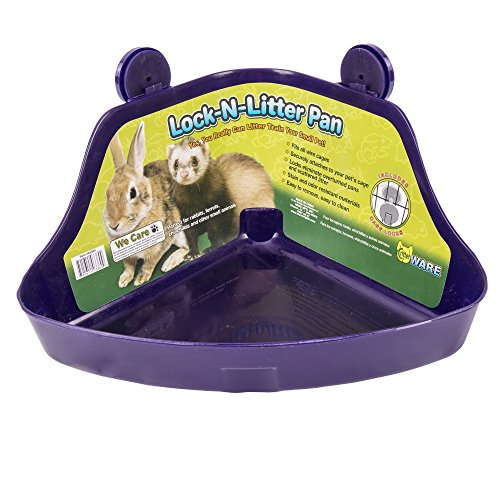 Ware Manufacturing Plastic Lock-N-Litter Pan for Small Pets, Colors May Vary - Lock N-litter Pan
