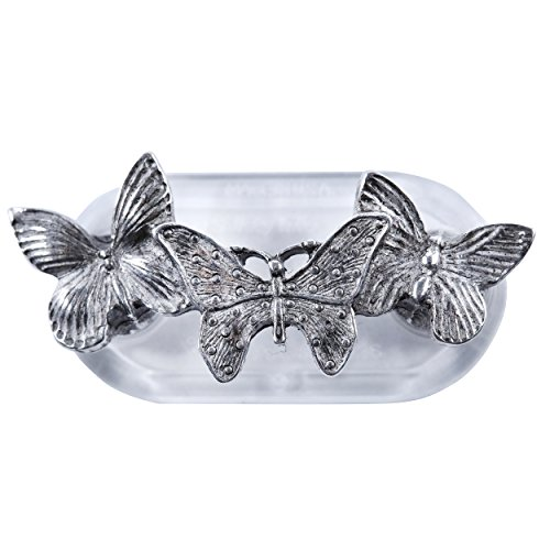 Magcessory Butterfly Trio Magnetic Eyeglass Holder Brooch, Pewter ()