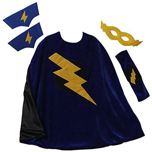 Making Believe Superhero Bolt Cape Set - Lightning Bolt Costumes