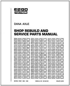 E-Z-GO 28148G01 1992-2008 Shop Rebuild Manual for Dana Axle