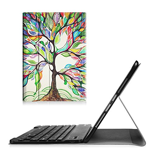 UPC 716715344529, Fintie iPad Pro 9.7 Keyboard Case - [Blade X1] Ultra Slim SmartShell Standing Cover with Magnetically Detachable Wireless Bluetooth Keyboard for Apple iPad Pro 9.7 inch (2016 Version), Love Tree