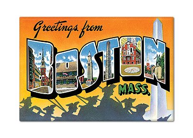 Greetings from Boston Massachusetts Fridge ()