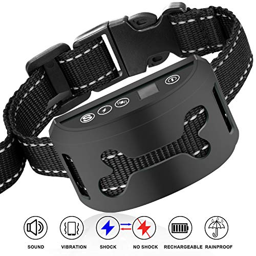 - Dog Training Collar, Rechargeable and Rainproof Anti Bark Collar for Small Medium and Large Dogs, Fast No Barking Training Device for Every Dog Owner