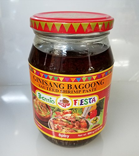 Barrio Fiesta Ginisang Bagoong Sauted Shrimp Paste Spicy Pack of Two 17 Oz Per Jar by Barrio Fiesta