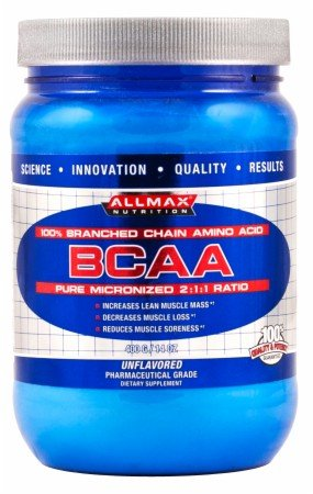 ALLMAX Nutrition 100 Pure Micronized BCAA Japanese-Grade Branched Chain Amino Acids Gluten-Free 80 Servings 400 g