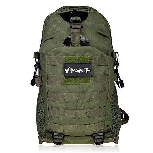 Vbiger Outdoors 35L Tactical Backpack for Travelling Hiking and Mountain Climbing (Army Green)